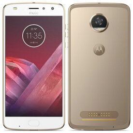 中古 Motorola Moto Z2 Play XT1710-09 FINE GOLD [国内版] SIMフリー スマホ 本体 送料無料【当社3ヶ月間保証】【中古】 【 携帯少年 】