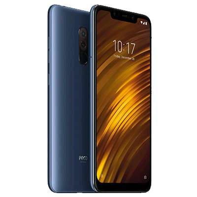 新品 未使用 Xiaomi Pocophone F1 Dual-SIM [Steel Blue 6GB 128GB 香港版] SIMフリー スマホ 本体 送料無料【当社6ヶ月保証】【中古】 【 携帯少年 】