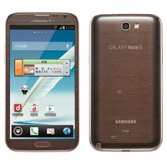 白只读存储器docomo未使用的GALAXY Note2 SC-02E AmberBrown智能手机二手货本体