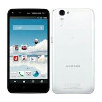 The white ROM docomo-free AQUOS PHONE ZETA SH-01F White smartphone used body