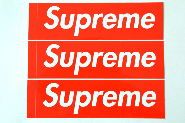 3枚セット 定番★Supreme シュプリーム ステッカー ボックスロゴ