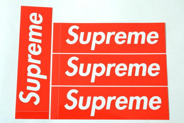 4枚セット 定番★Supreme シュプリーム ステッカー ボックスロゴ