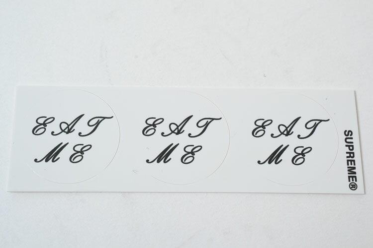 Supreme シュプリーム ステッカー (Eat Me Sticker) ホワイト