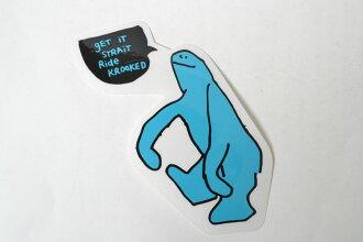 KROOKED STICKER 비뚤어진 스케이트 스티커