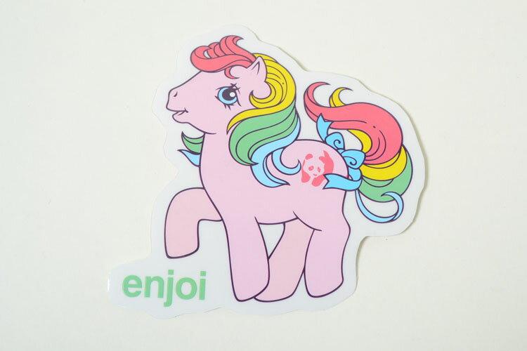 ENJOI エンジョイ スケボー ステッカー ポニー ピンク