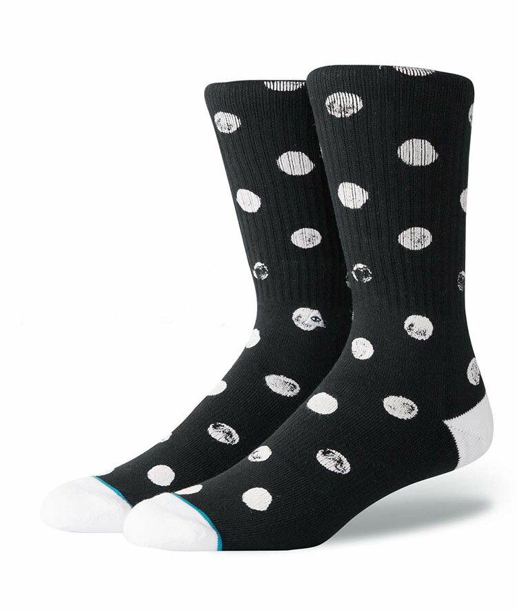STANCE スタンス Socks ソックス DOT VIBES Poler Stuff ポーラー メンズ ブラック 靴下 ストリート スケーター スケート バスケット dotvibes