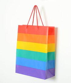 フライングタイガー ショッパー プレゼント バッグ 袋 レインボー ギフトラッピング