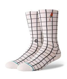 STANCE スタンス Socks ソックス NETWORK メンズ ホワイト 靴下 ストリート スケーター スケート バスケット network-whi