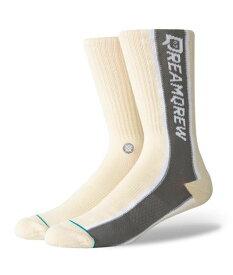 STANCE スタンス Socks ソックス DREAM QREW 19 メンズ Qias Omar ナチュラル 靴下 ストリート スケーター スケート バスケット dreamqrew19-nat