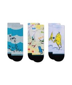 STANCE KIDS DR. SEUSS 3 PACK スタンス Socks ソックス 靴下 ストリート スケーター スケート キッズ ベビー トドラー 3枚セット 2歳〜4歳 プレゼント