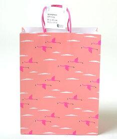 フライングタイガー ショッパー プレゼント バッグ 紙袋 ピンク フラミンゴ ギフトラッピング