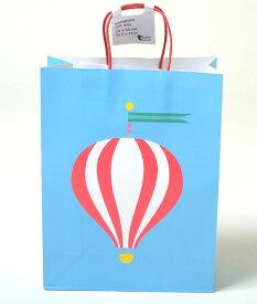 フライングタイガー ショッパー プレゼント バッグ 紙袋 ブルー 気球 ギフトラッピング