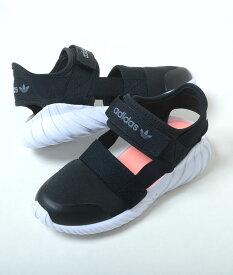 【17cm-21.5cm】adidas DOOM SANDAL C アディダス ドーム サンダル C ブラック キッズ スニーカー サンダル 子供靴 fv7600