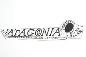 patagonia sticker パタゴニア ステッカー(CLIMB CLEAN)ホワイト