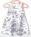 Jim Thompson ジム トンプソン レストラン柄 デッサン柄 らくがき風 ワンピース ホワイト ベビー KIDS キッズ 子供服…