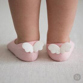 ベビーソックス ベビー靴下 靴下 子供用くつ下 HAPPY PRINCE 天使 ホワイト ピンク ミントグリーン ベビー baby KIDS キッズ 子供服 お出かけ セレモニー 結婚式 プレゼント 新生児 0歳 1歳誕生日 プレゼント