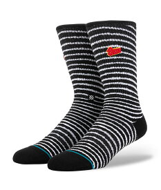 STANCE スタンス Socks ソックス blackstar 靴下 ストリート スケーター スケート バスケット メンズ ブラック ストライプ プレゼント