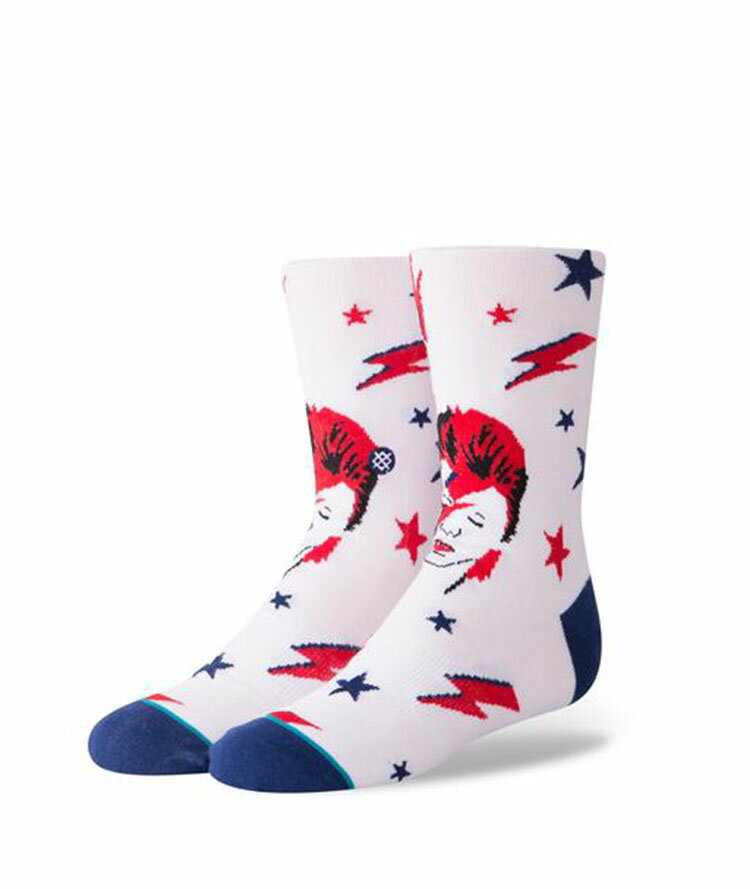 STANCE KIDS star man boys スタンス キッズ Socks ソックス 靴下 ストリート スケーター スケート ホワイト レッド ブルー 男の子 ボーイズ