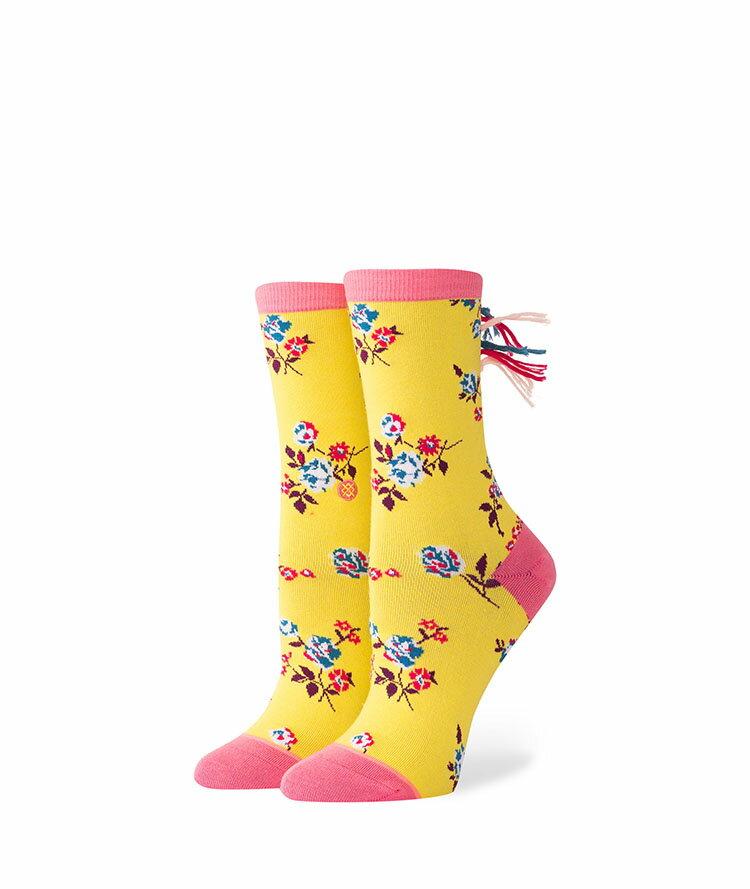 STANCE KIDS heymane スタンス キッズ Socks ソックス 靴下 ストリート スケーター スケート イエロー 花柄 女の子 ガールズ プレゼント