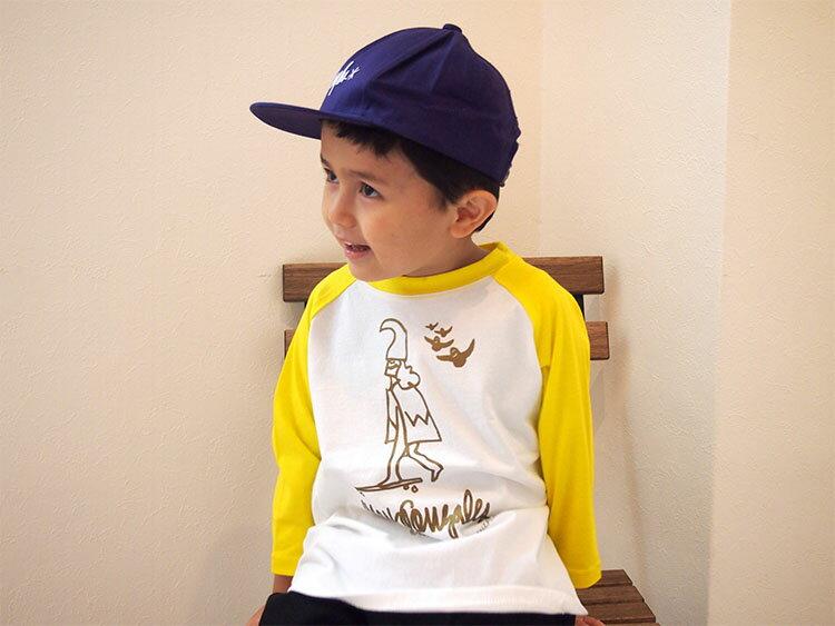 【100-150サイズ】MARK GONZALES マーク ゴンザレス ゴンズ ラグラン3/4 ティシャツ ベビー baby キッズ kids 子供服 mg19s03誕生日 プレゼント