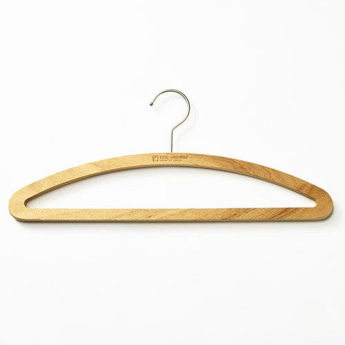 くすのき フラットハンガー 42cm/KUSU HANDMADE/ 木製ハンガー 防虫ハンガー