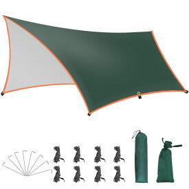 防水タープ テント キャンプタープ アウトドア 多機能 ヘキサタープ 天幕シェード 日除け紫外線カット 遮光 遮熱 難燃 ソロ 大きいサイズ 超軽量 携帯便利 登山 アウトドア 運動会 ピクニック コンパクト 収納袋付きYTA (3*4m)