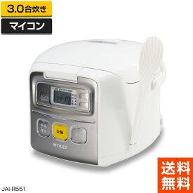 【中古】美品 タイガー魔法瓶 マイコン炊飯ジャー (3.0合炊き/ホワイト) 炊きたてミニ JAI-R551 (2016年製)◆978f13