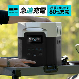 EcoFlow ポータブル電源 大容量 DELTA MAX 1612Wh 定格出力2000W 急速充電 非常用電源 車中泊 防災グッズ 停電対策 家庭用蓄電池 バッテリー 4way充電 エコフロー 蓄電池 キャンプ