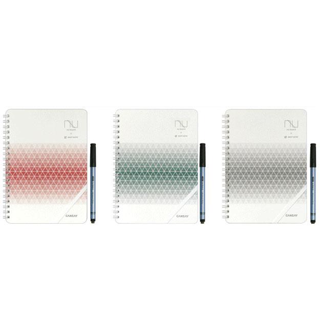 残したいメモを専用アプリで簡単デジタル化!ヌーボード×キングジムのコラボ商品!NUboard A5 SHOT NOTE White&Grid Edition/ヌーボード A5 ショットノート 白地4ページ+方眼罫入り4ページネコポス送料無料