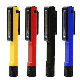 ペンライト LED マグネット クリップ 付高輝度 COB型 LED 搭載!作業 アウトドア レジャー で大活躍! 2つのマグネット付きで使いやすい!HANDY LED LIGHTネコポス送料無料