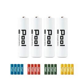 ニッケル水素電池 単3形 2150mAhNi-MH 充電池 Pool プール 4本セット電池用プラスチックケース×1個付属