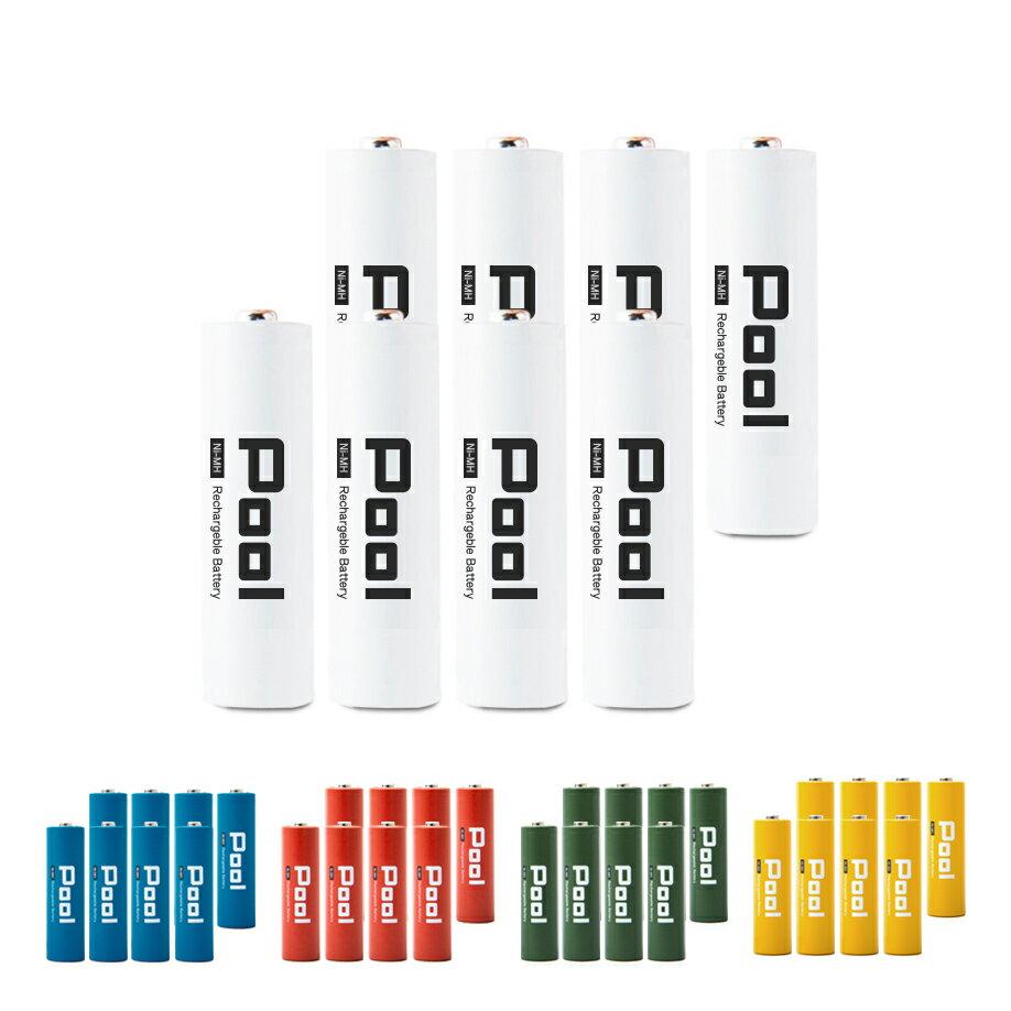 今だけ選べるオマケ付! 充電池 単3 形 8本 セットPool プール 大容量2150mAh!約1000回繰り返し使える 単3 電池 × 8本セット日本正規品販売代理店 エネループ エネロング を超える大容量! おもちゃ 等に![EL21D3P4*2]ネコポス送料無料