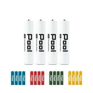 ニッケル水素電池単3形2100mAhNi-MH充電池Poolプール4本セットメール便送料無料