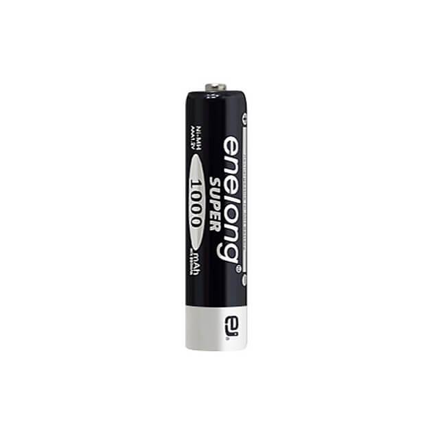 日本正規品販売代理店約1000回繰り返し使える単4形乾電池enelong超大容量1000mAh!エネロングスーパー単4形電池[SUPER Black]×1本バラ売り