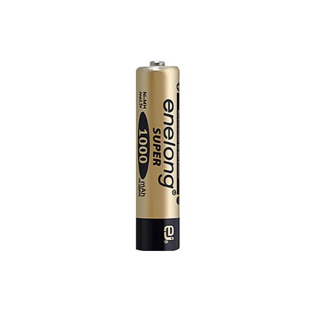 日本正規品販売代理店約1000回繰り返し使える単4形乾電池enelong超大容量1000mAh!エネロングスーパー単4形電池[SUPER Gold]×1本バラ売り