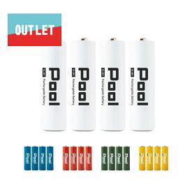 充電池 単3 Pool プール 4本セットニッケル水素電池 単3形 2150mAhアウトレット品 Ni-MH ネコポス便送料無料