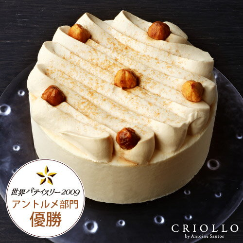 【ムースケーキ】ガイア 4号(直径12cm)バニラムースとキャラメル 約2〜4名様用【冷凍便】あす楽対応
