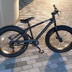 ファットバイク ビーチクルーザー 自転車 24インチ FATBIKE ファットバイク シマノ7段変速【送料無料】但し沖縄・離島は除く
