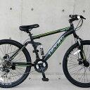 マウンテンバイク MTB 自転車 26インチ Wサス シマノ製21段変速 ディスクブレーキ 自転車 通販【送料無料】但し沖縄・…