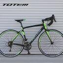 【プレゼント付き】ロードバイク 自転車 アルミ 軽量 700C TOTEM シマノ18段変速 SORA シマノF/Rディレーラー STI デ…