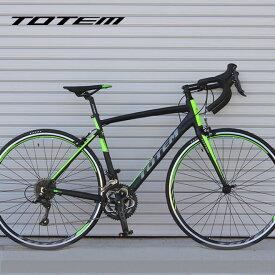 【プレゼント付き】ロードバイク 自転車 アルミ 軽量 700C TOTEM シマノ18段変速 SORA シマノF/Rディレーラー STI デュアルコントロールレバー