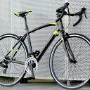 ロードバイク 自転車 アルミ 軽量 700C シマノ14段変速 シマノF/Rディレーラー STI デュアルコントロールレバー TOTEM…