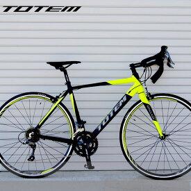 【プレゼント付き】ロードバイク 自転車 アルミ 軽量 700C TOTEM シマノ16段変速 クラリス STI デュアルコントロールレバー