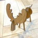 オーク/アメリカン・ブラック・ウォルナット合板製 エルクの置物【Lサイズ】| DIY 木材 板