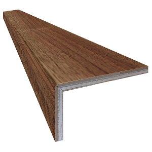 単板張り L字リフォーム框 玄関 幅木「ブラックウォルナット」オイル仕上げ(透明つや消し) | プレミアムグレード | 天然木 クルミ 胡桃 巾木 DIY 木材 板