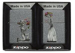 Zippo ジッポー ライター USモデル ペアジッポ スカル 花束プロポーズ 28987 import
