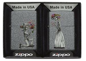 Zippo ジッポー ライター USモデル ペアジッポ スカル 花束プロポーズ ジッポ 28987 import