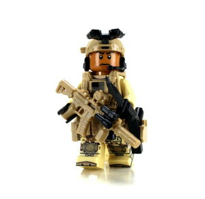 レゴ ブロック カスタム パーツ アーミー 装備品 武器 カスタムフィグ アフリカ系アメリカ 特殊部隊 兵士 ミニ フィギュア