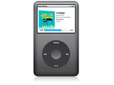 Apple アップル iPod classic 第6世代 80GB ブラック 本体のみ Cランク 【送料無料】