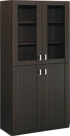 コクヨ 役員室用家具 マネージメントS350シリーズ 両開き書棚(ガラス扉タイプ)【MG-S35GP1UN3】